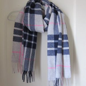 J.Crew Large Checkered Wool Scarf New